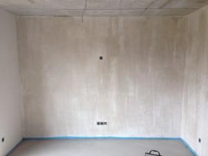 TV-Wand - frisch grundiert